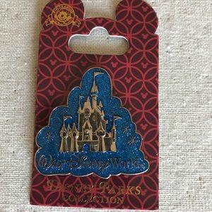 Disney Pin WDW Castle Glitter Cloud Logo